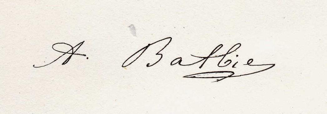 Signatue Anselme Batbie - MTD(c)